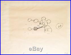 1928 Rare Disney Mickey Mouse Steamboat Willie Original Production Drawing Cel