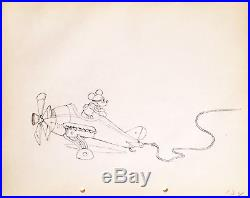 1933 Disney Mickey Mouse Mail Pilot Original Production Animation Drawing Cel