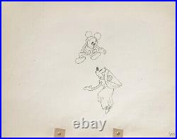 1933 Rare Disney Mickey Minnie Mouse Original Production Animation Drawing Cel