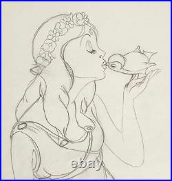 1934 Rare Disney Goddess Of Spring Original Production Animation Drawing Cel