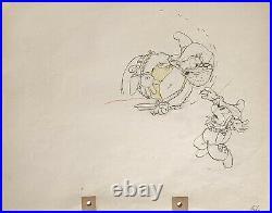 1934 Rare Disney Mickey Mouse Pete Original Production Animation Drawing Cel