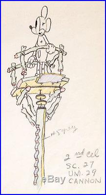 1935 Rare Walt Disney Mickey Mouse Original Production Animation Drawing Cel