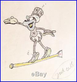 1935 Walt Disney Mickey Mouse Friday Original Production Animation Drawing Cel
