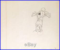 1936 Rare Walt Disney Mickey Mouse 5 Original Production Animation Drawing Cel