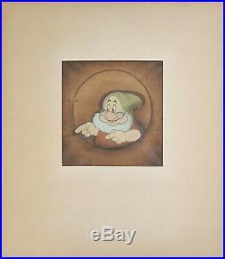 1937 Disney Snow White Seven Dwarfs Doc Courvoisier Production Animation Cel