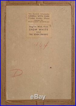 1937 Disney Snow White Seven Dwarfs Grumpy Courvoisier Production Animation Cel