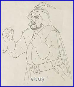 1937 Disney Snow White Seven Dwarfs Huntsman Production Animation Drawing Cel