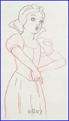1937 Disney Snow White Seven Dwarfs Original Production Animation Drawing Cel