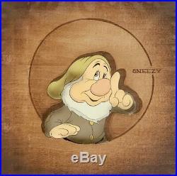 1937 Disney Snow White Seven Dwarfs Sneezy Courvoisier Production Animation Cel