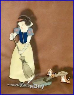1937 Rare Disney Courvoisier Snow White Seven Dwarfs Production Animation Cel