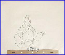 1937 Rare Disney Snow White Seven Dwarfs Prince Production Animation Drawing Cel