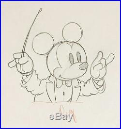 1937 Rare Walt Disney Mickey Mouse Original Production Animation Drawing Cel