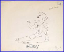 1937 Rare Walt Disney Snow White Seven Dwarfs Production Animation Drawing Cel