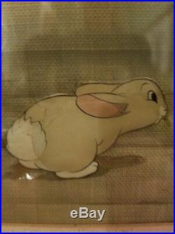 1937 Walt Disney Snow White and the Seven Dwarfs Mouse & Rabbit Production Cel