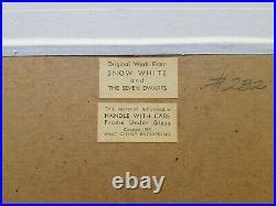 1937 Walt Disney's SNOW WHITE & THE SEVEN DWARFS original production cel of Doc