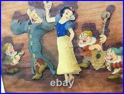 1937 Walt Disney's'SNOW WHITE & THE SEVEN DWARFS' original production cel setup