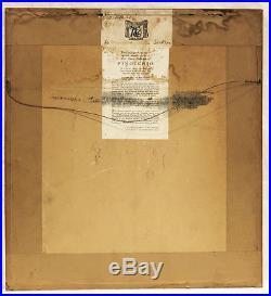 1939 Walt Disney PINOCCHIO Production Cel Original Courvoisier Art back/label EX