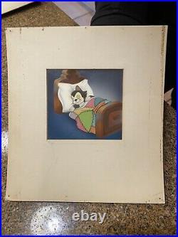 1940 Disney Original Production Cels Courvoisier Pinocchio Figaro