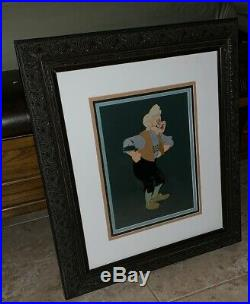 1940 Geppetto Production Cel From Pinocchio Disney Very Large Image Rare