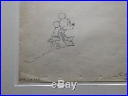 1940 Rare Walt Disney Fantasia Original Production Animation Drawing Cel Mickey