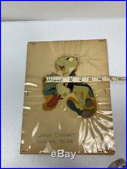 1940 Rare Walt Disney Pinocchio Jiminy Cricket Original Production Animation Cel