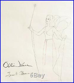 1940 Walt Disney Pinocchio Blue Fairy Original Production Animation Drawing Cel