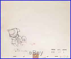 1940 Walt Disney Pinocchio Stromboli Original Production Animation Drawings Cel