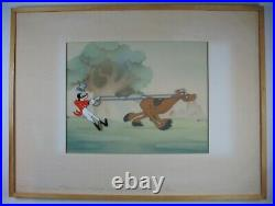 1941 Courvoisier Production Cel Goofy & Percy How to Ride a Horse Walt Disney