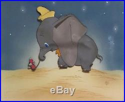 1941 Disney Dumbo Timothy Mouse Courvoisier Original Production Animation Cel