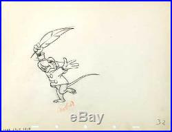 1941 Rare Sequence Of 8 Walt Disney Dumbo Timothy Mouse Production Cel Drawings