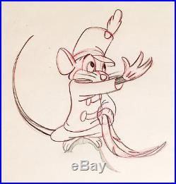 1941 Rare Walt Disney Dumbo Timothy Mouse Production Animation Drawing Cel