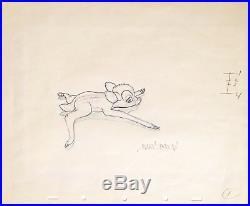 1942 Disney Bambi On Ice Marc Davis Original Production Animation Drawing Cel