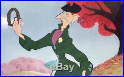 1949 Rare Disney Ichabod Crane Sleepy Hollow Original Production Animation Cel