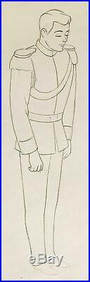1950 Rare Disney Cinderella Prince Original Production Animation Drawing Cel