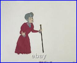 1950 Rare Walt Disney Cinderella Stepmother Original Production Animation Cel