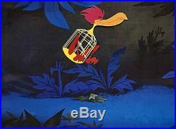 1951 Disney Alice In Wonderland Birdcage Bird Original Production Animation Cel