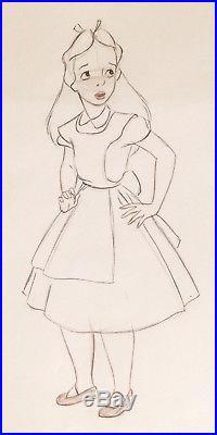1951 Disney Alice In Wonderland Large Original Production Animation Drawing Cel