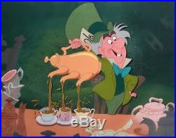 1951 Disney Alice In Wonderland Mad Hatter Original Production Animation Cel