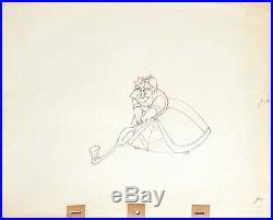 1951 Disney Alice In Wonderland Queen Of Hearts Original Production Drawing Cel