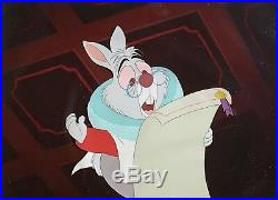 1951 Disney Alice In Wonderland White Rabbit Original Production Animation Cel