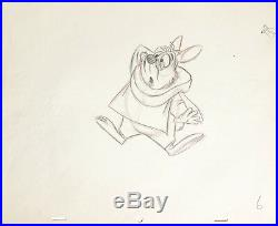 1951 Disney Alice In Wonderland White Rabbit Original Production Drawing Cel