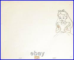 1951 Rare Disney Alice In Wonderland Original Production Animation Drawing Cel