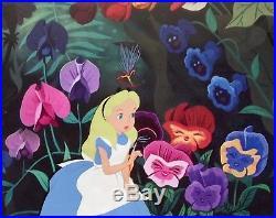 1951 Rare Walt Disney Alice In Wonderland Original Production Animation Cel