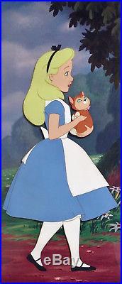 1951 Walt Disney Alice In Wonderland Dinah Cat Original Production Animation Cel