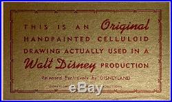 1951 Walt Disney Alice In Wonderland Flamingo Original Production Animation Cel