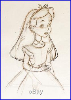 1951 Walt Disney Alice In Wonderland Original Production Animation Drawing Cel