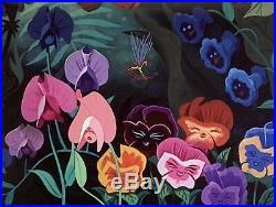 1951 Walt Disney Alice In Wonderland Sweet Pea Flower Original Production Cel