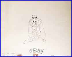 1953 Disney Peter Pan Captain Hook Original Production Animation Drawing Cel