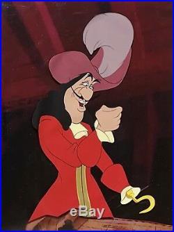 1953 Rare Walt Disney Peter Pan Captain Hook Original Production Animation Cel