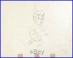 1953 Rare Walt Disney Peter Pan Large Original Production Animation Drawing Cel